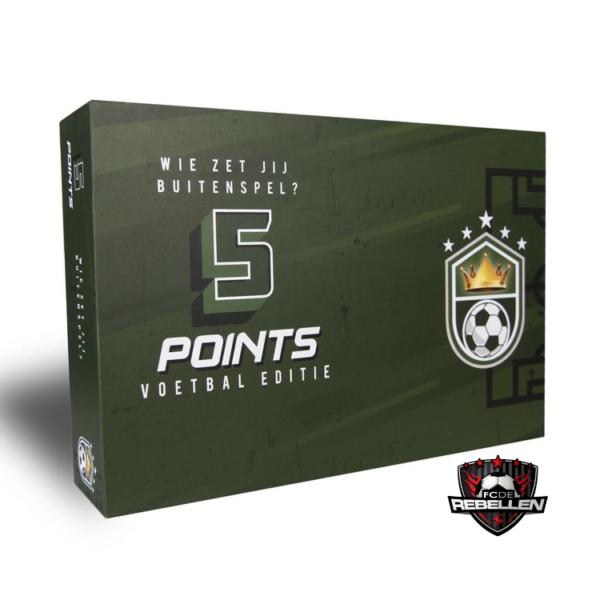 5 points Voetbal-editie FC de Rebellen